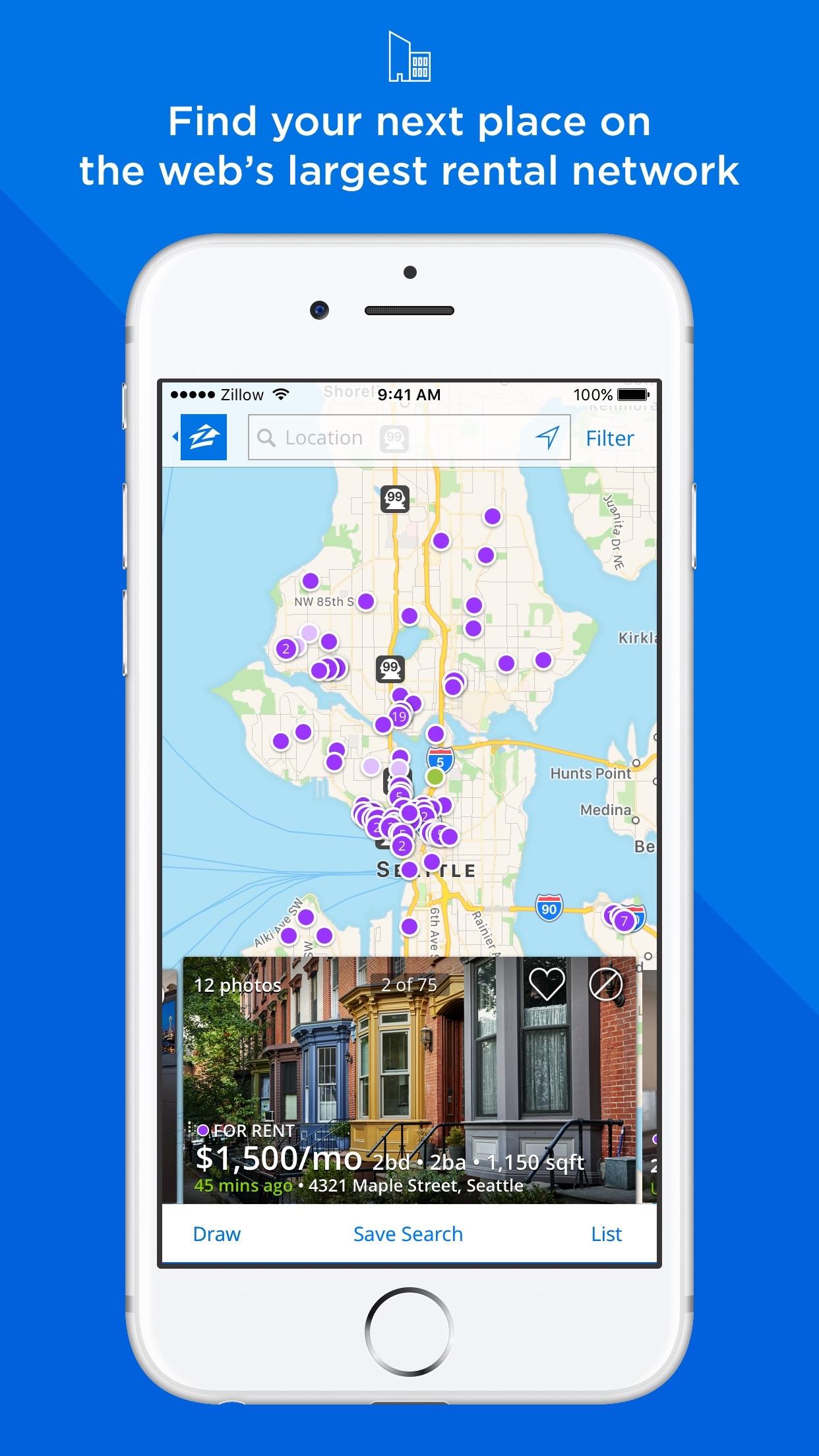 Apartments & Homes for Rent - Zillow Rentals Screenshot