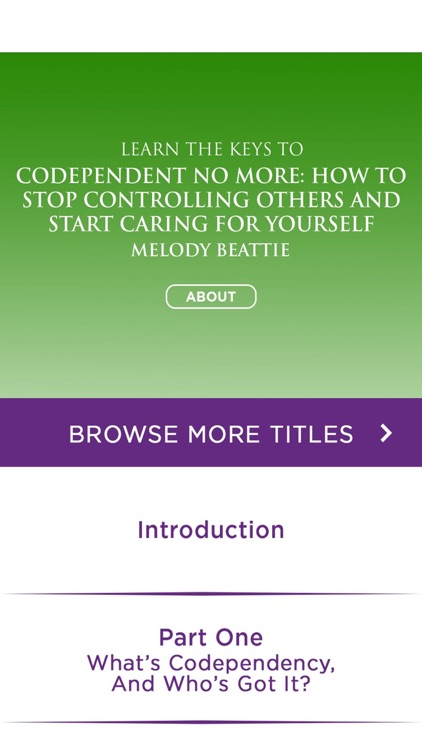 Codependent No More by Melody Beattie Summary