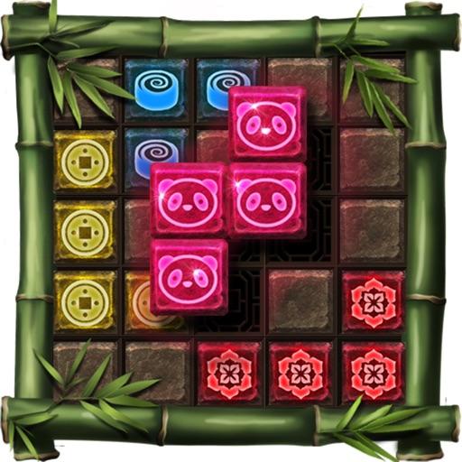 Block Puzzle 1010: china temple style,panda blocks