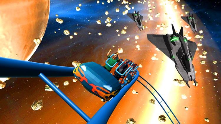 Space Roller Coaster 3D screenshot-4