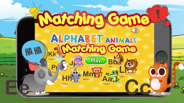 Memorize alphabet animals remembering game for kid