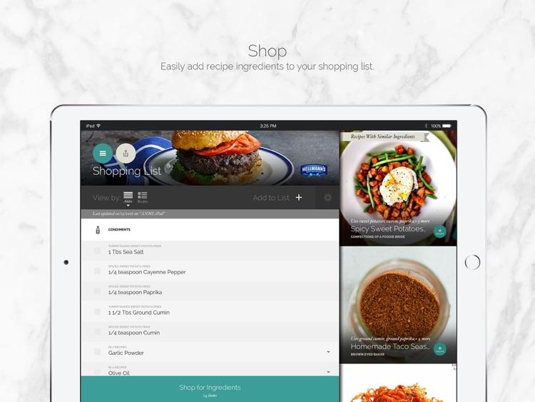 Yummly Recipes & Shopping List for iPad screenshot-3