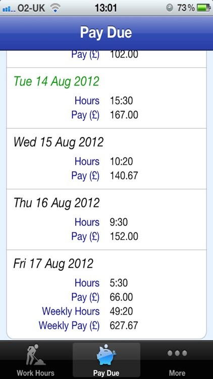 Easy Pay Diary screenshot-3