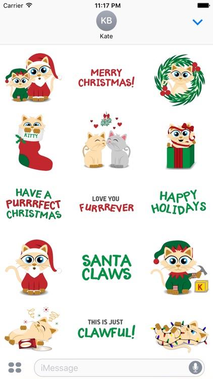 Christmas Kitties Sticker Pack
