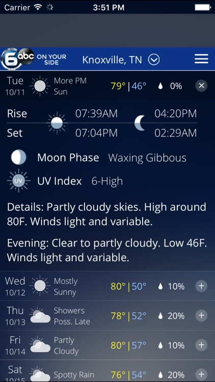 Knoxville Wx - weather from WATE 6 On Your Side screenshot-3