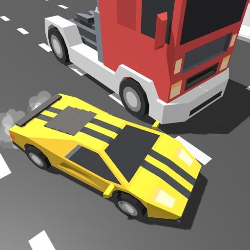 Bloky Traffic Rider. Real Highway Roads Car Racer