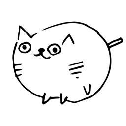 Cute Hand Drawn Cat Sticker #2