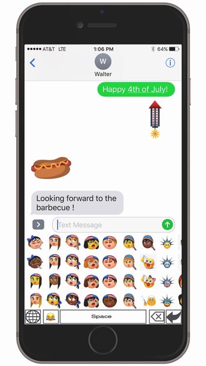 USA Sam-oji – American emoji keyboard icons