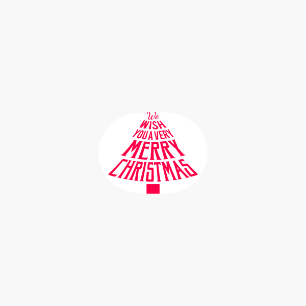 merry christmas wish typography stickers on the app store