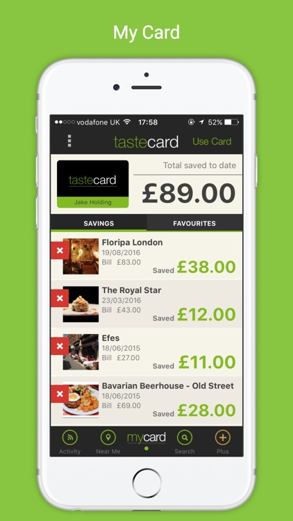 tastecard dining discounts screenshot-2