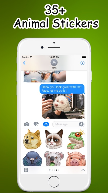 Animals Faces Emoji Stickers - for iMessage