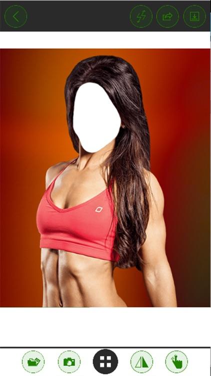 Fitness Girl Suit Photo Editor - Best Female Fitness Models