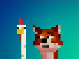 iMessage Sticker Pack with the popular characters of the game Fox Eats Chicks