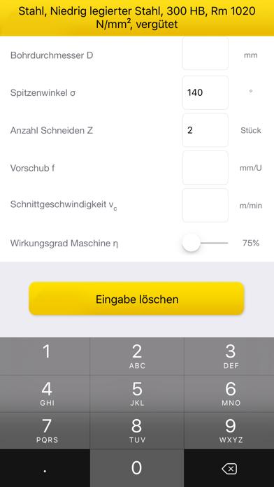 Gühring Schnittkraftrechner screenshot two