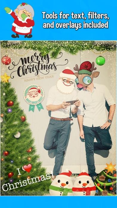 Dabbing Santa Photo Editor with Christmas Stickers - 窓用