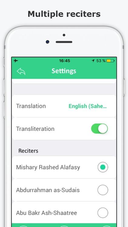 E-Quran – Full Quran Kareem with Audio & Transliteration & Translation - القرآن الكريم screenshot-3