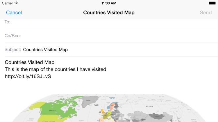 Countries Visited Map screenshot-3