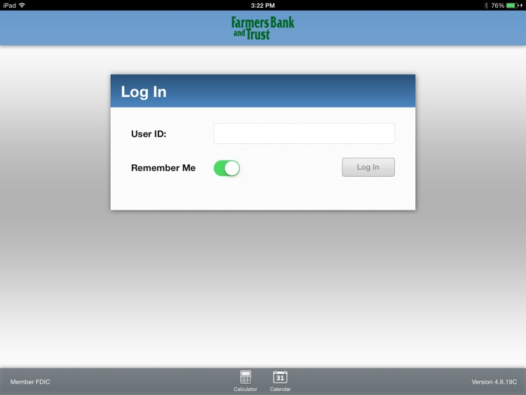 Farmers Bank & Trust Mobile for iPad