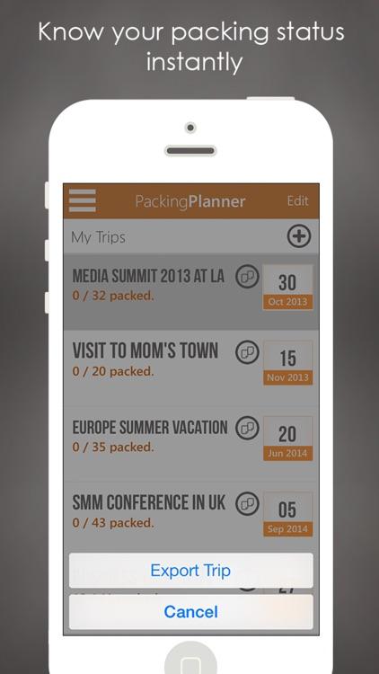 Packing Planner PRO- Travel List for Trip Advisor