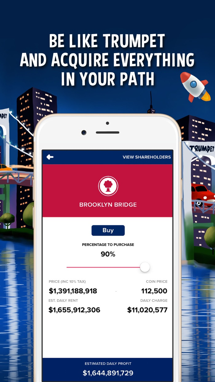 Donut Trumpet Tycoon - Real Estate Billionaire Screenshot