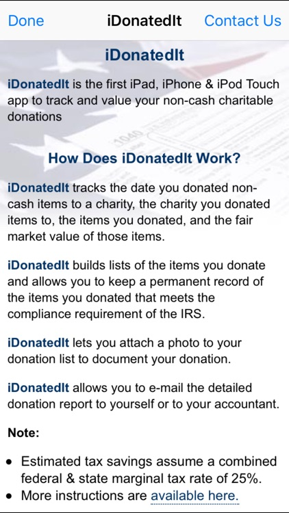 iDonatedIt screenshot-1