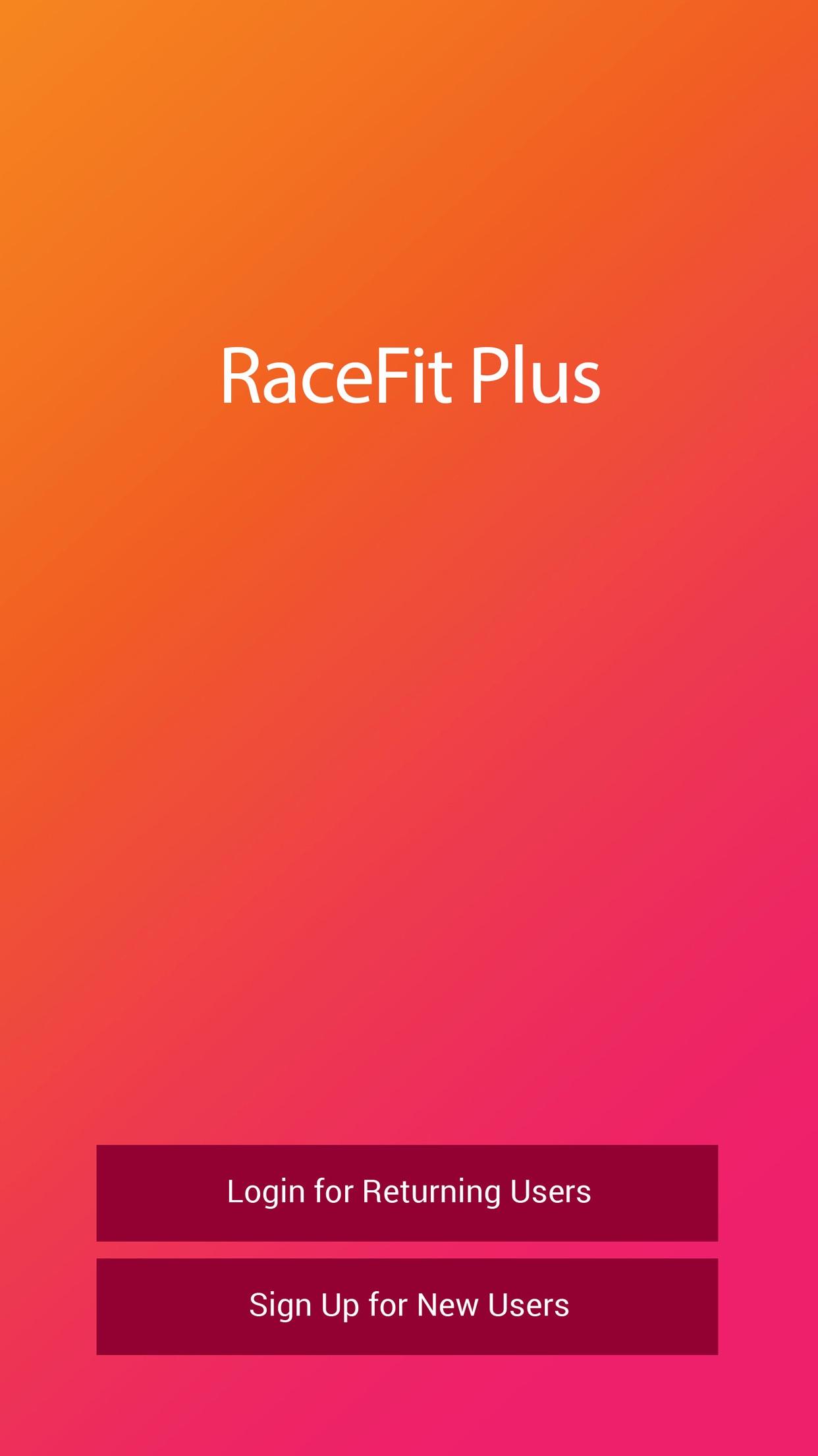 RaceFit Plus Screenshot