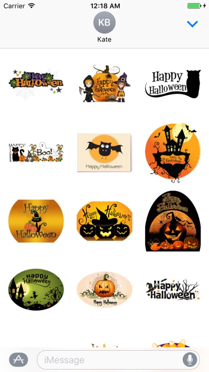 Happy Halloween Stickers for iMessage