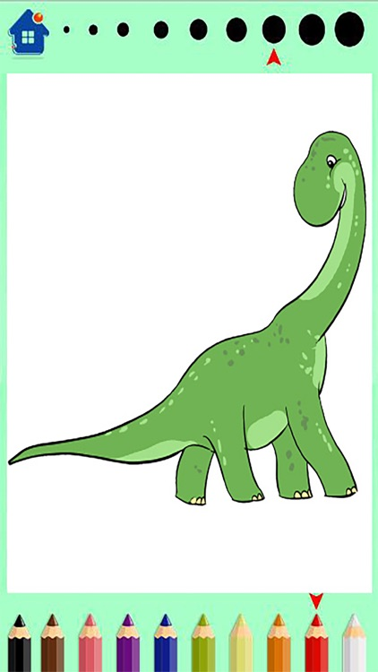 Dinosaur Coloring Book - Dino Finger Paint