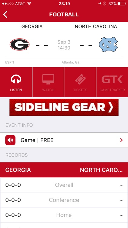Georgia Bulldogs Gameday LIVE screenshot-2