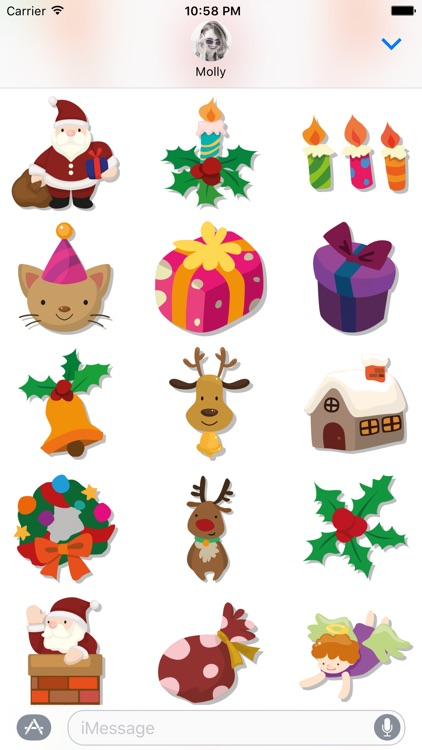 Merry Christmas – Santa Stickers for iMessage screenshot-1