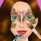 一方 女孩 脸上 油漆 沙龙 - 超级巨星 女孩 icon