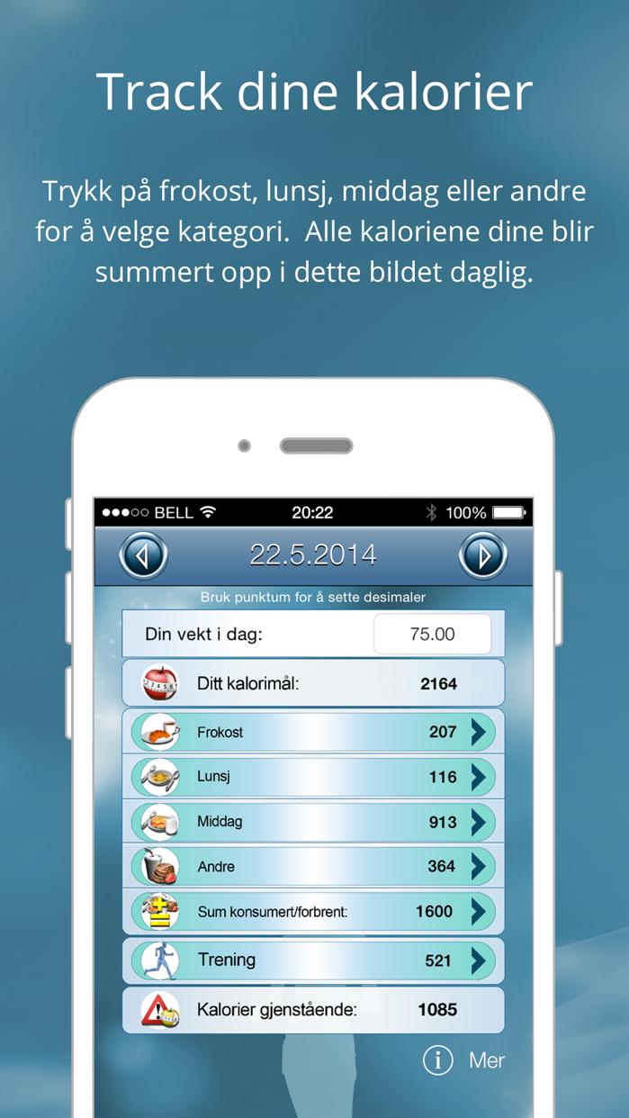 Kaloriteller - Slanke app Screenshot