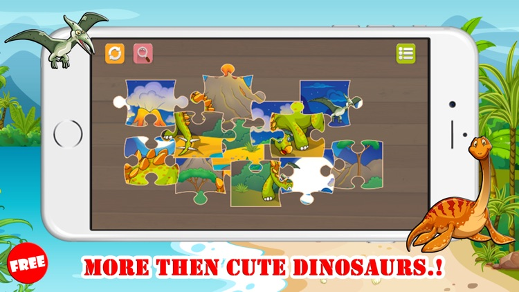 Dinosaur Jigsaw Puzzles Learning Games For Kids 2 by