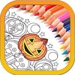 Halloween Mandala Coloring Book for kids