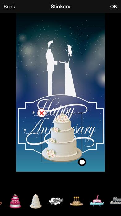 Wedding Anniversary Greetings Maker screenshot one