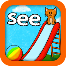 Super Sight Words - A fun learning game for children in kinder, first, and second grades that will help your child learn their Dolch list and encourage reading fluency and comprehension. Includes special font for children with Dyslexia.