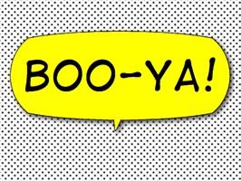 Boo-Ya! Comic Interjection Bubbles