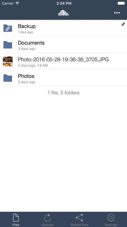 Storswift ownCloud screenshot-4