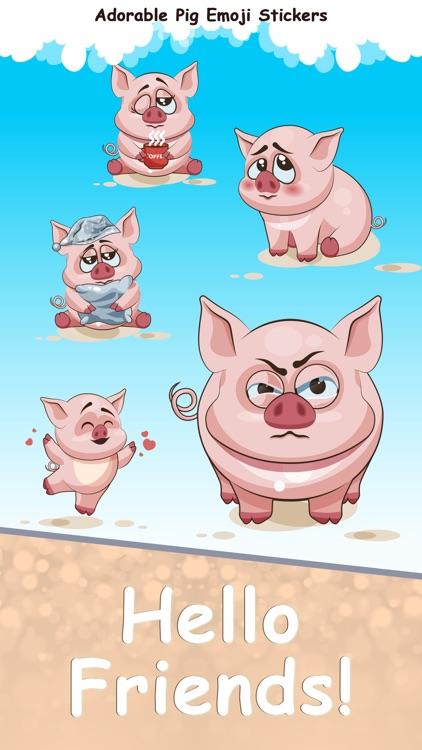 Adorable Pig Emoji Stickers