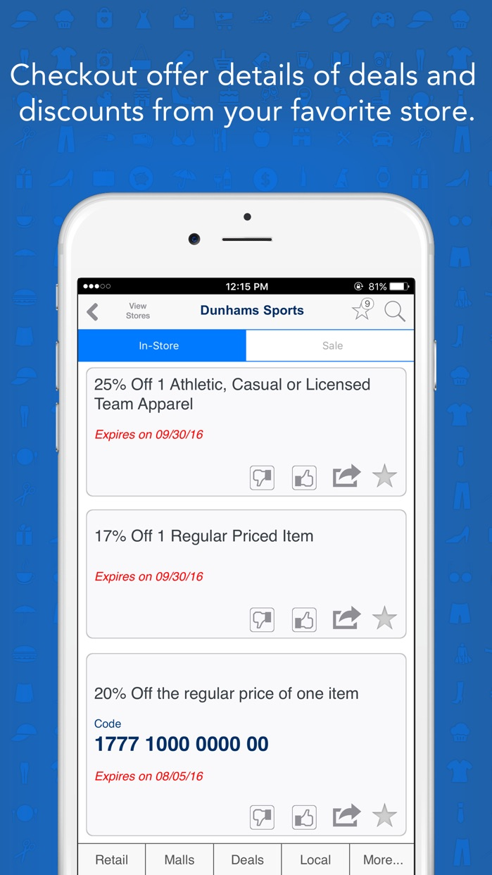 GeoQpons: Coupons, Sales and Shopping Deals Screenshot