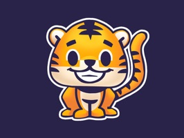 Rawai Tiger - baby tiger stickers for kids park