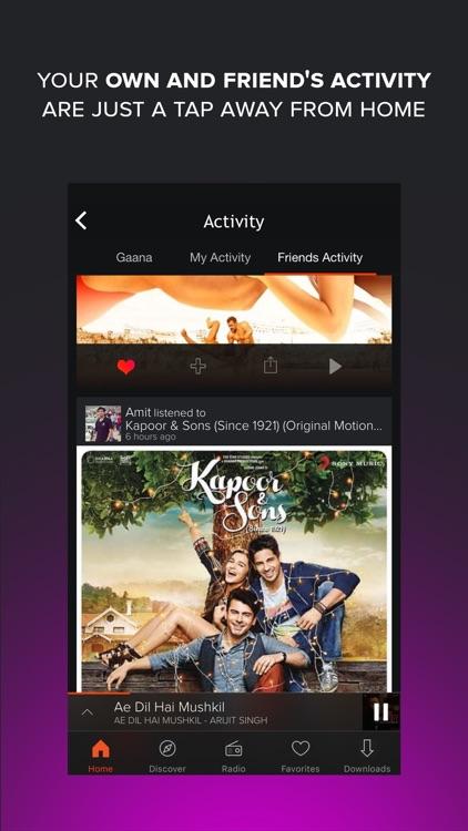 Gaana - Hindi, English and Regional Songs & Radio app image
