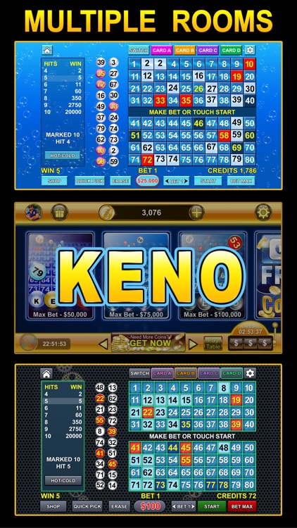 Keno - Multi Card keno games