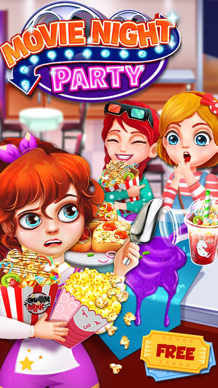 Movie Night Party - Popcorn Maker Cooking Games Screenshot