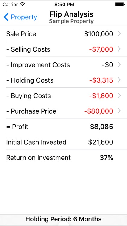 Property Fixer - Real Estate Investment Calculator screenshot-3