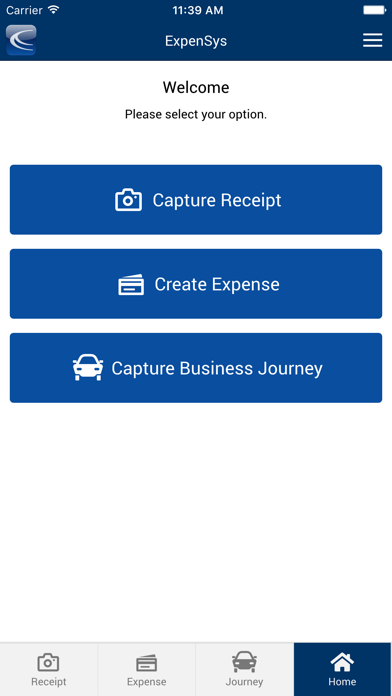 ExpenSys Mobile 2 screenshot one