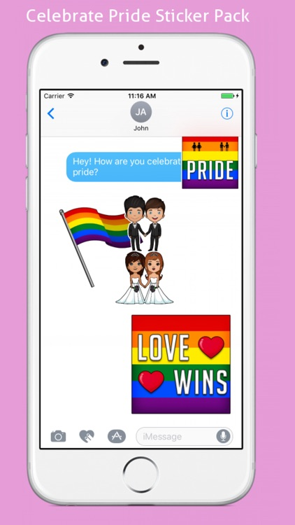 Gay Pride Emoji Stickers