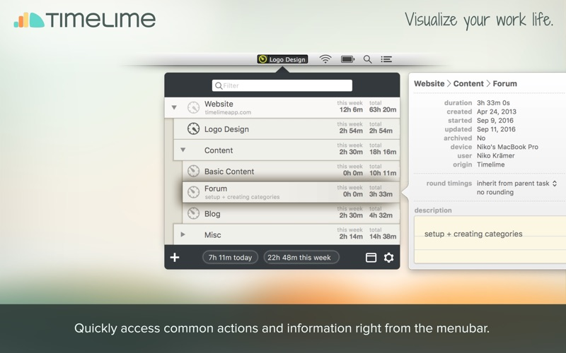 Timelime | Time tracking Screenshot