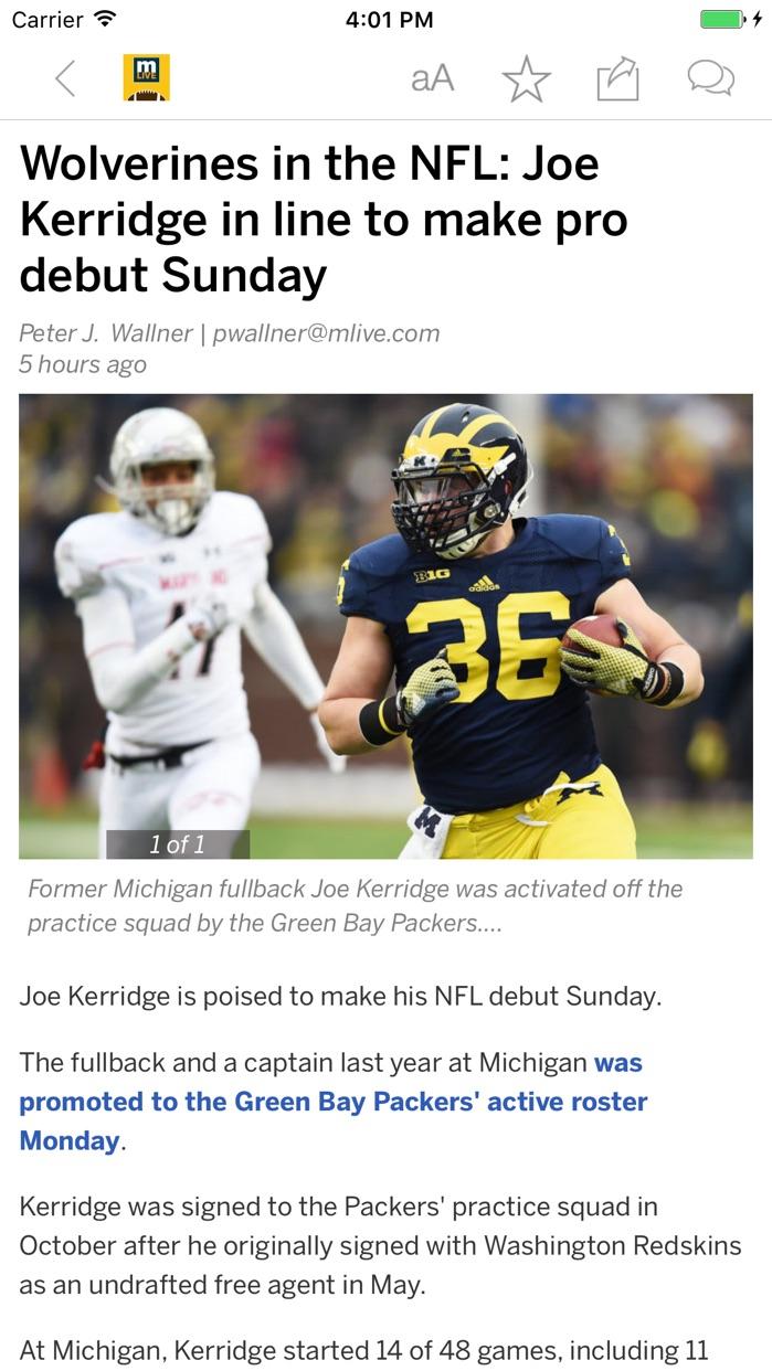 MLive.com: Michigan Wolverines Football News Screenshot