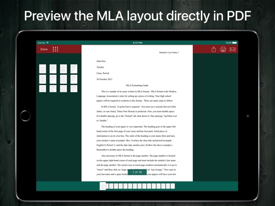 Screenshot #6 pour MLA Format and Document Writer